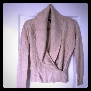Shawl Collar Cable Nit Sweater